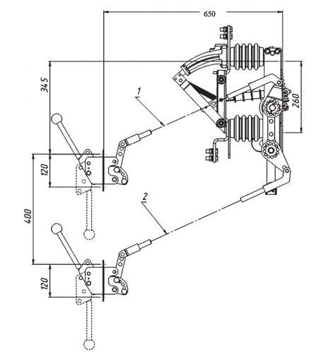 Возможный вариант монтажа с приводом ПРБД-10