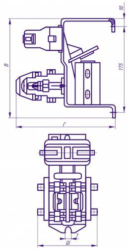 Рисунок 2 - Электрическая схема контакторов серии МК с питанием включающих катушек от переменного тока через...